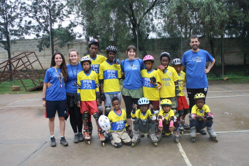 El Gallico de San Cernin. 8-05-2019. Solidarios I: Patinar en Etiopía-tipía Patinatzen.